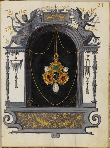 Jewel Book of the Duchess Anna of Bavaria (1550s) d