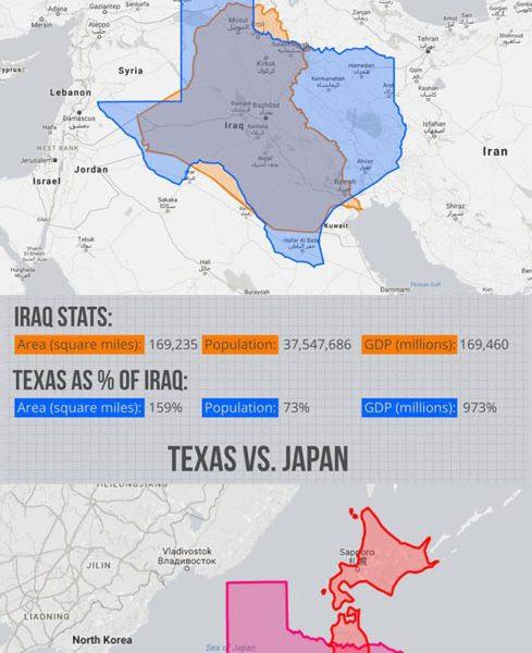 How Big Is Texas? Infographic - Best Infographics