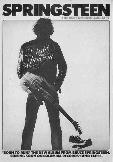 Original Born To Run promo ad