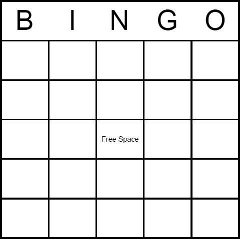 Free Blank Printable Bingo Cards