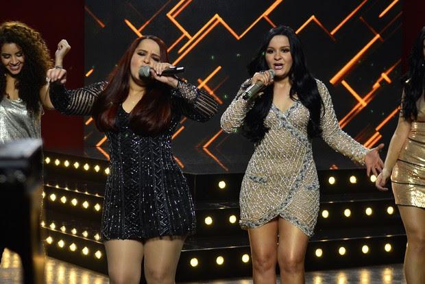 Maiara e Maraísa gravam campanha de beleza (Foto: Roberto Teixeira/EGO)