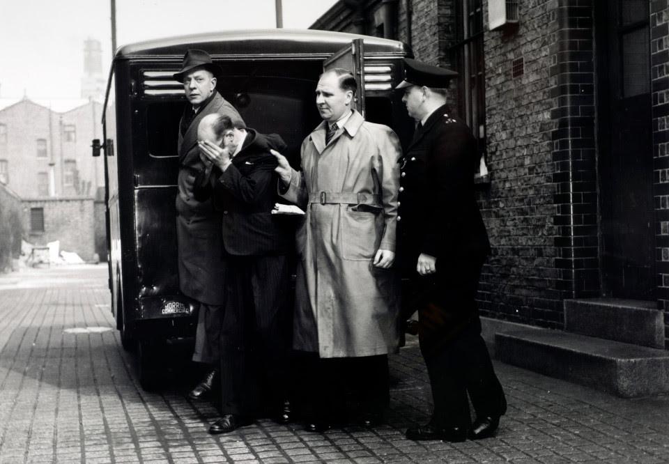 John Christie under arrest