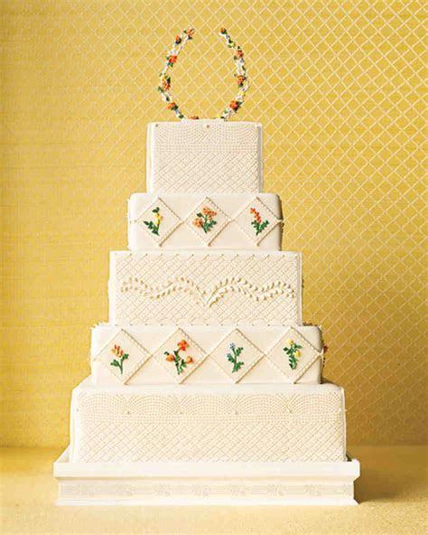 Quilted Wedding Cakes   Martha Stewart Weddings