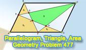 Problem 477: Parallelogram, Triangle, Quadrilateral, Area