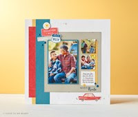 Innovative, creative, and always versatile—here's just one example of these stamps in use.