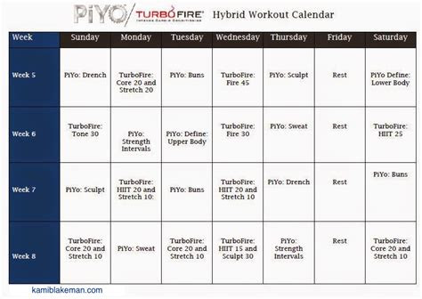 turbo firepiyo hybrid workout schedule fit momma
