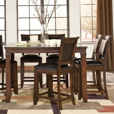 Standard Furniture Austin 5 Piece Counter Height Dining Table Set ...