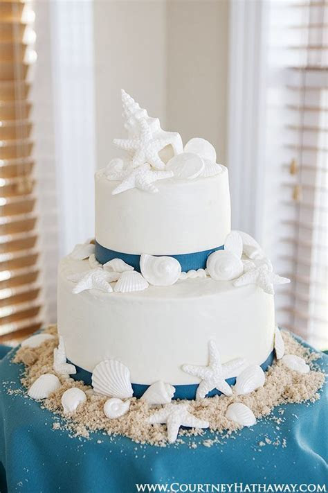 17 Best ideas about Seashell Wedding Cakes on Pinterest