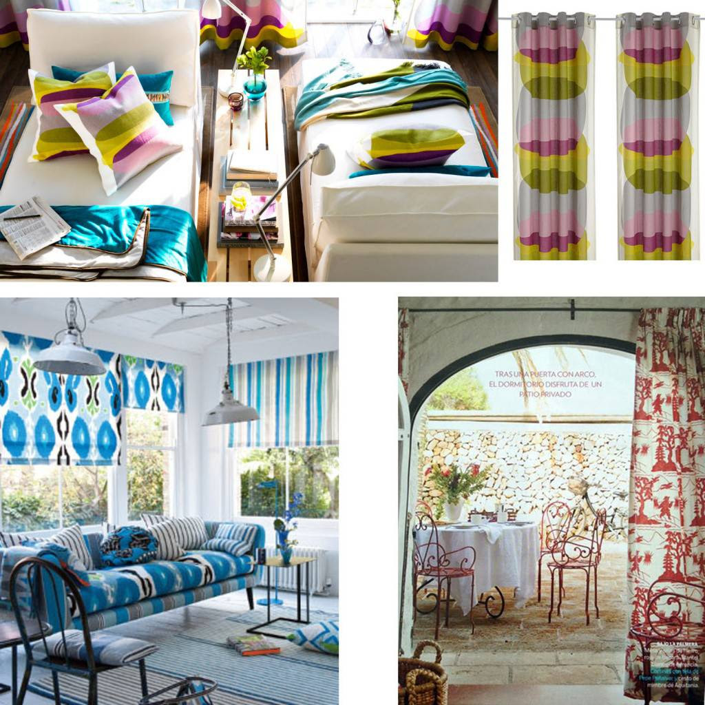 Motivos grandes que se llevan en telas y textiles en la primavera de 2013