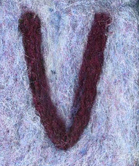 Alphabet ATC or ACEO Available - Needlefelted Letter V