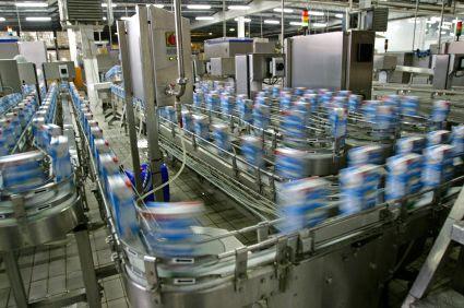 Productie lijn in fabriek