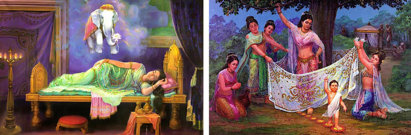 Queen Mahamaya sees a dream prior to the birth of Prince Siddhartha-The Birth of Prince Siddhartha