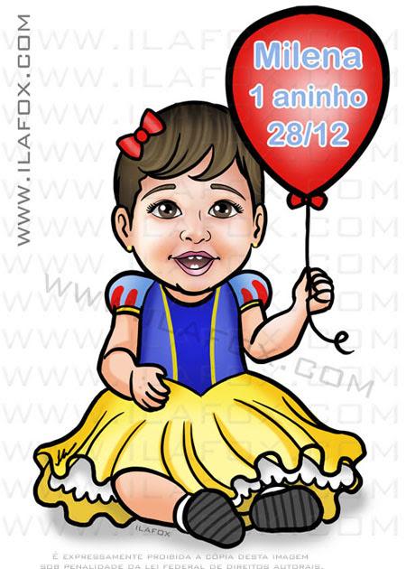 caricatura infantil, caricatura bebê, caricatura personalizada, by ila fox