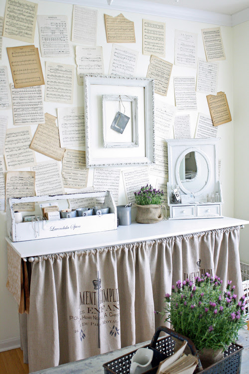 French Larkspur eclectic home office