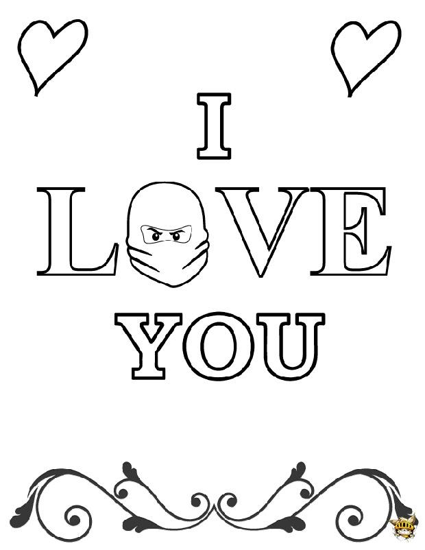 I Love You Ninjago Est Un Coloriage De Ninjago