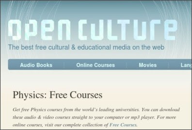 http://www.openculture.com/physics_free_courses