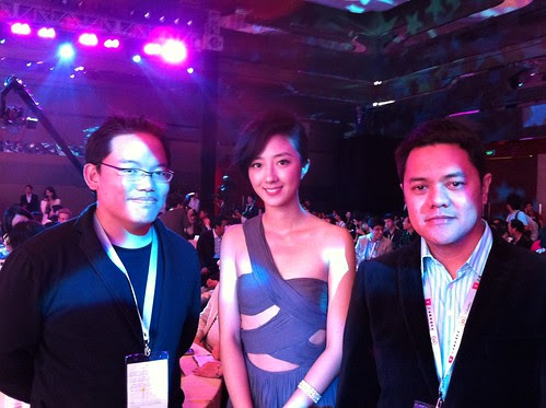 Filipino filmmaker Sheron Deyoc, Taiwanese actress Guey Lun Mei and me