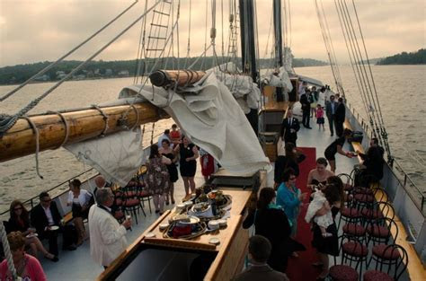 Wedding ceremony and reception aboard the Tall Ship Silva