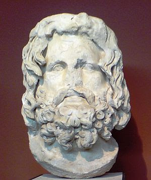 English: Head of Sarapis. Probably part of a c...