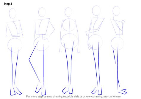 learn   draw anime body female body step  step