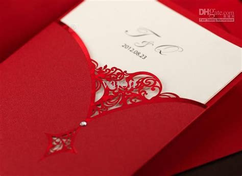 Cheap Wedding Invitations   Discount Red Sup Flower