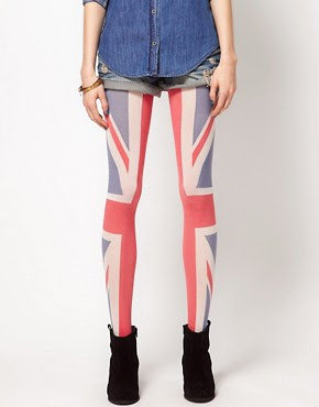 Image 1 of House of Holland For Pretty Polly Union Jack Tights
