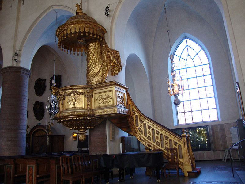 St Jacobs Kyrka - Pulpit C DSC06492.JPG