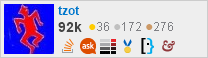profile for tzot on Stack Exchange, a network of free, community-driven Q&A sites