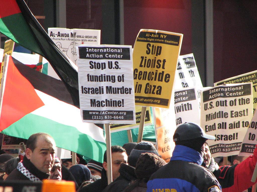 Demonstrating for Hamas