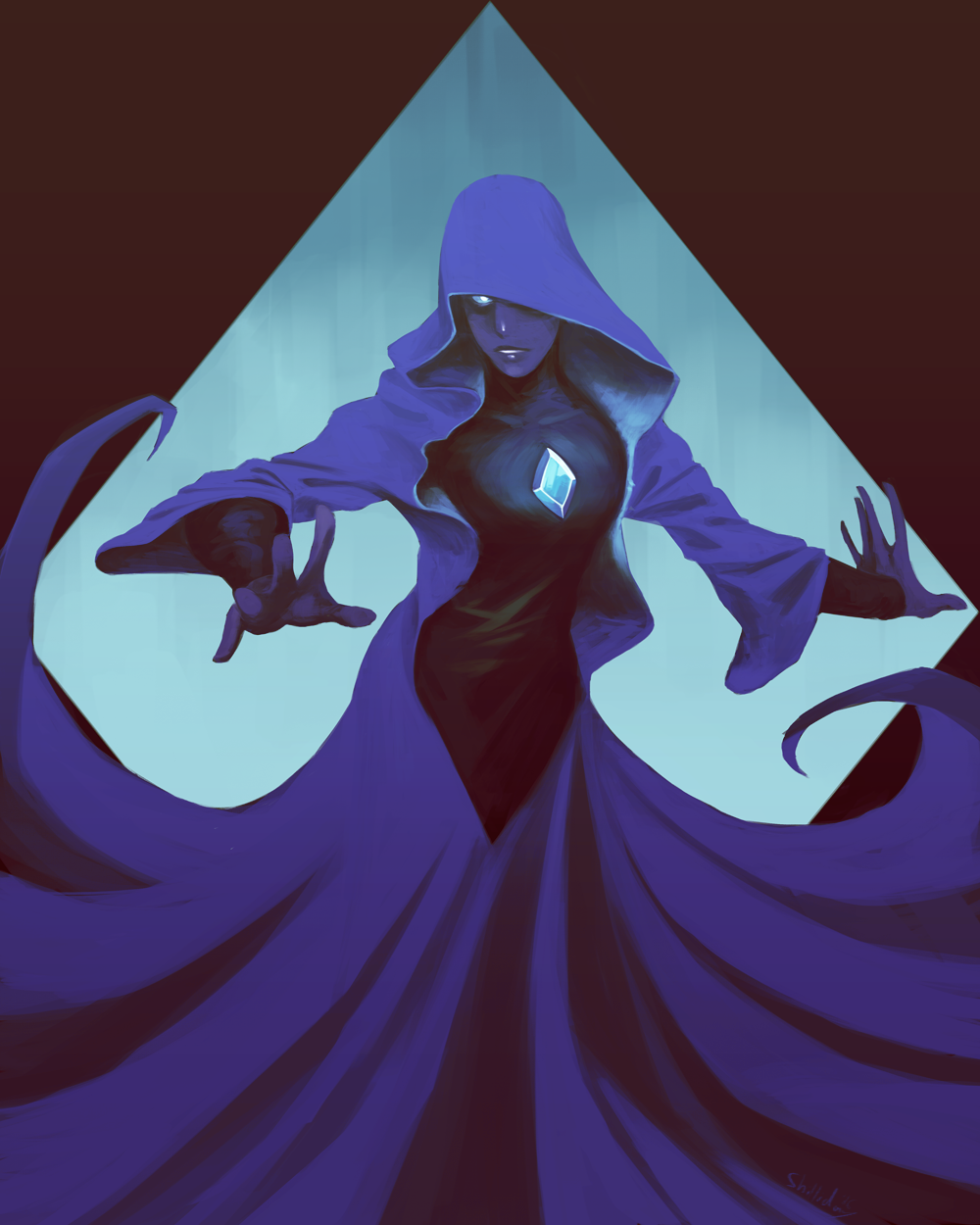 Blue Diamond print I did for Hal-con, I still need to do 5 more prints so we have a fresh run this year, any suggestions?