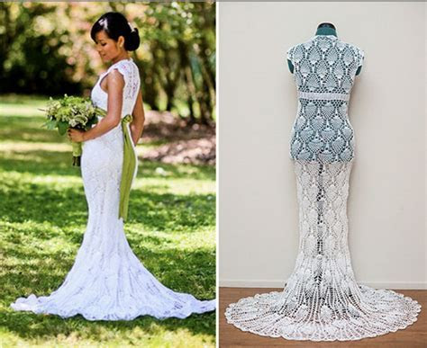 6 Amazing Crochet Wedding Dresses   Beautiful Crochet Stuff