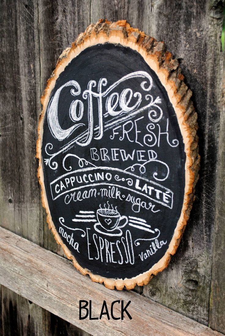 Chalkboard  Great  rustic  Pinterest house  ideas  Rustic Sign Coffee signs Bar