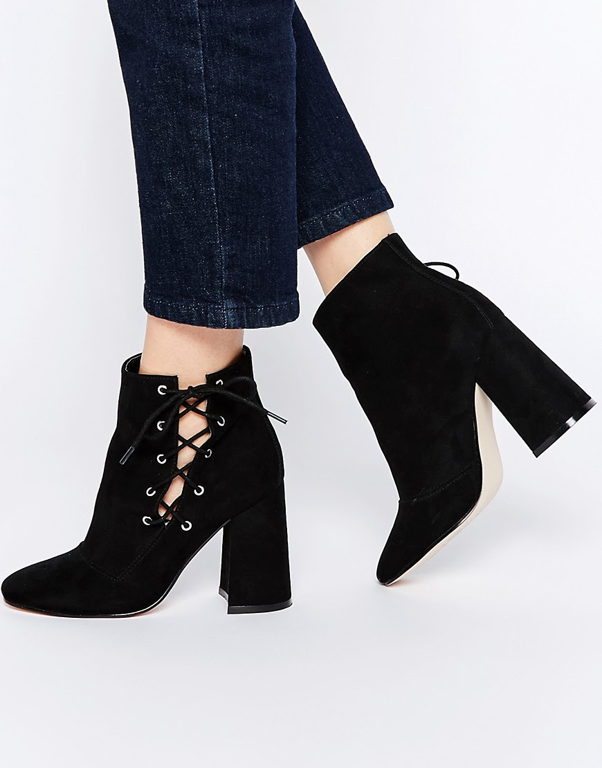 Image 1 of ASOS ENIGMA Lace Up Ankle Boots
