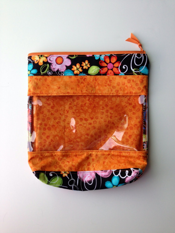 Orange and Black Floral Peek-A-Boo Bag