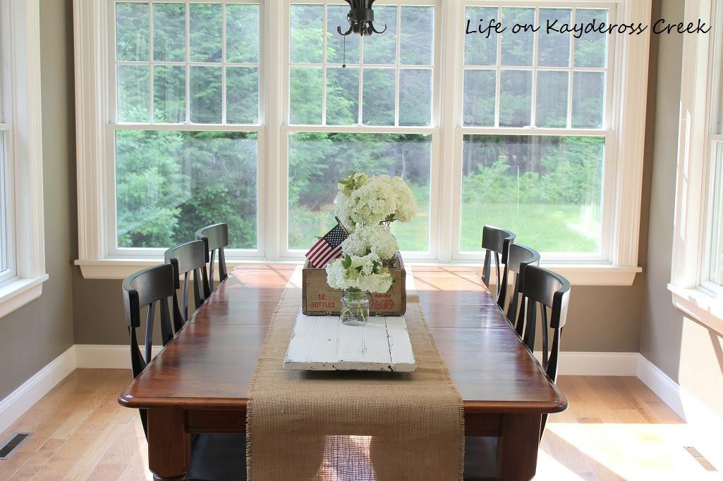 Summer Dining Room - Life on Kaydeross Creek