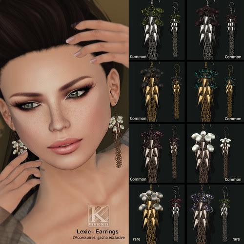 (Kunglers Extra) Lexie earrings - TR gacha AD