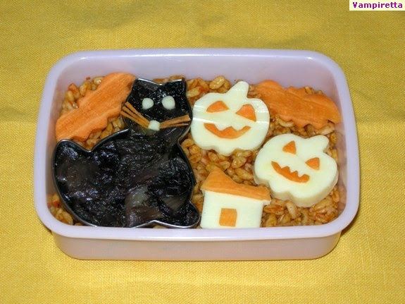 Bento Halloween - Gattino Nero
