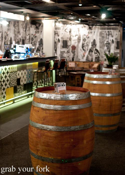 barrel table at marrickville ritz hotel