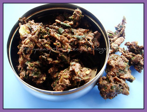 Ragi and spring onion Pakoda