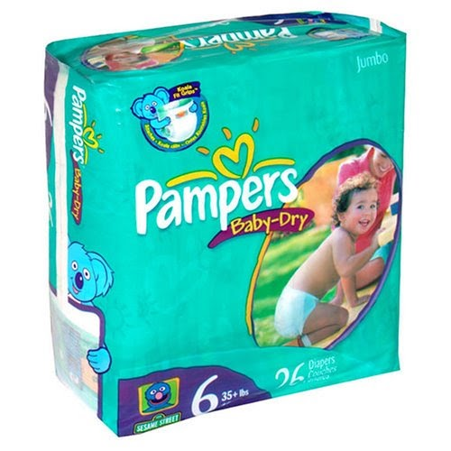 pampers baby dry diapers size 6 jumbo pack 26 diapers. Black Bedroom Furniture Sets. Home Design Ideas