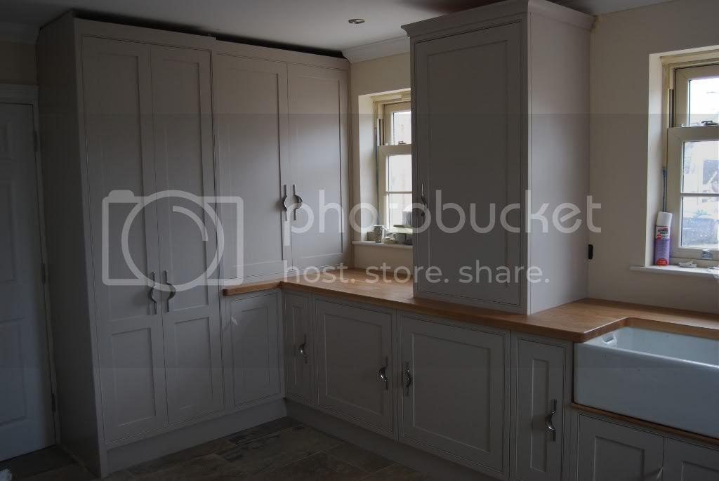 Farrow and Ball Elephant's Breath kitchen