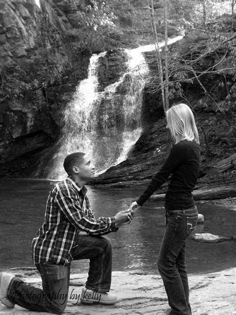 Waterfall proposal photo   Engagement Photo Ideas