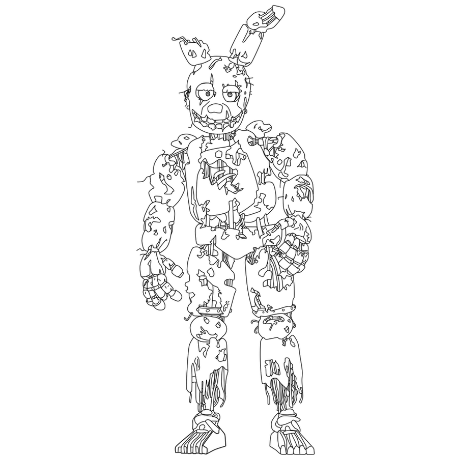Spring Trap Coloring Page