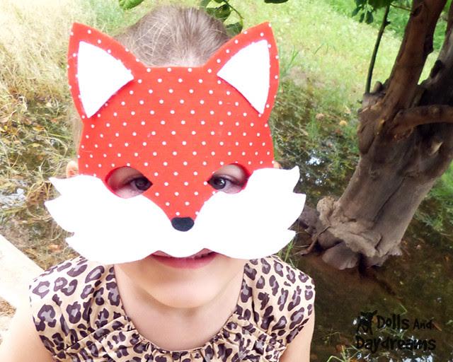 Woodland fox mask sewing pattern easy diy handmade 2 copy