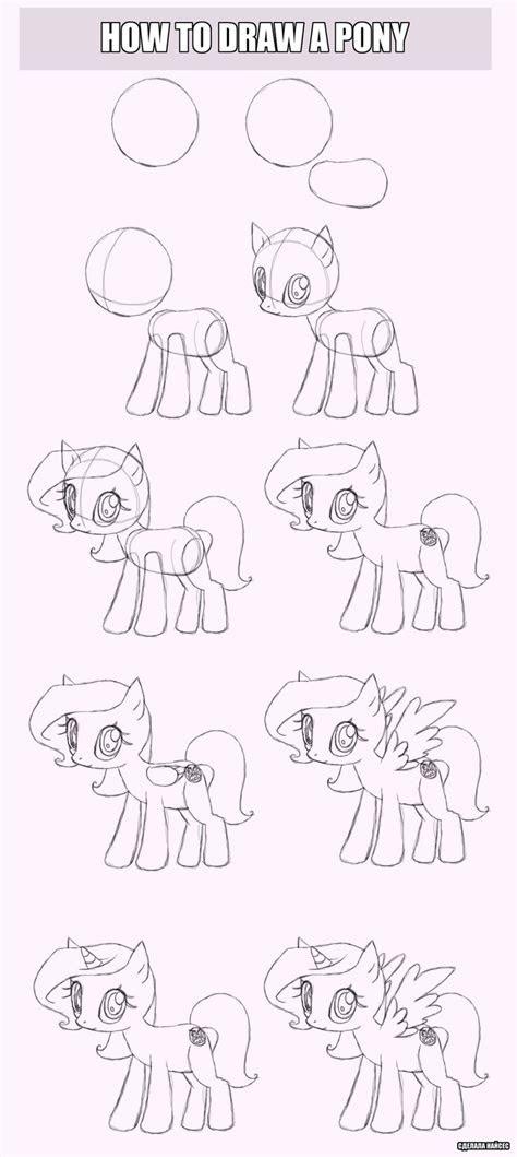 draw  pony  nicesthebeardeviantartcom