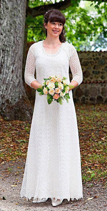 Hand knitted festive/ wedding dress, fine natural white