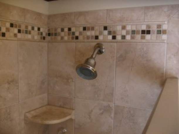 Porcelain Shower With Mosaic Accents Tile Contractor Creative