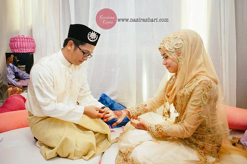 Gambar Perkahwinan Daus AF8 dan Shaza Shamimi