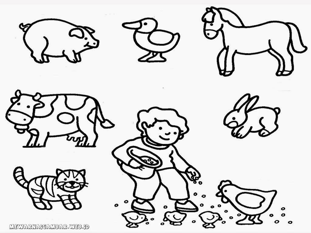 90 Gambar Binatang Anak Tk Gratis Terbaru