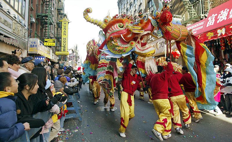 File:Dragon in Chinatown NYC Lunar New Year.jpg